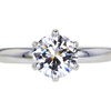 1.47 ct. Round Cut Solitaire Ring, E, SI1 #1