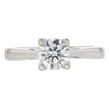 0.96 ct. Round Cut Solitaire Ring, G, SI2 #3