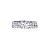 1.02 ct. Round Cut Bridal Set Ring, H, I1 #3