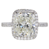 5.25 ct. Cushion Modified Cut Halo Ring, K, VS2 #3