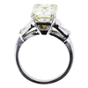 4.57 ct. Emerald Cut 3 Stone Ring, M-Z, VS2 #2