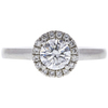 0.8 ct. Round Cut Halo Ring, G, VS2 #3