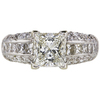 2.1 ct. Princess Cut Solitaire Ring, I, SI2 #3