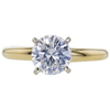 1.10 ct. Round Cut Solitaire Ring, H, I1 #3