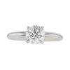 0.9 ct. Round Cut Solitaire Ring, F, SI2 #3