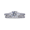 0.90 ct. Round Cut Bridal Set Ring, G, SI1 #3