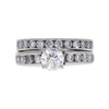 0.72 ct. Round Cut Bridal Set Ring, G, I1 #3