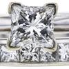 1.01 ct. Princess Cut Bridal Set Ring, J, I1 #4