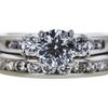 0.85 ct. Round Cut Right Hand Ring, E, SI1 #4