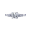 0.87 ct. Princess Cut 3 Stone Ring, H-I, VS2-SI1 #2