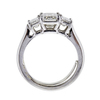 1.84 ct. Emerald Cut 3 Stone Ring #3