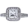 1.53 ct. Princess Cut Halo Ring, I, SI1 #3