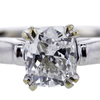 0.95 ct. Cushion Cut Bridal Set Ring #1