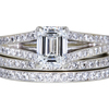 1.20 ct. Emerald Cut Bridal Set Ring, G, VS2 #3