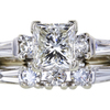2.01 ct. Princess Cut Bridal Set Ring #1