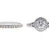 0.64 ct. Round Cut Bridal Set Ring, F, VVS2 #3
