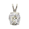 2.3 ct. Old Mine Cut Pendant Necklace, L, SI2 #2