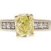 3.01 ct. Modified Cushion Cut Solitaire Ring, Fancy, VS2 #3