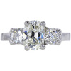 1.16 ct. Oval Cut 3 Stone Ring, J, SI2 #3