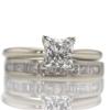 1.12 ct. Princess Cut Bridal Set Ring #2