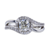 1.00 ct. Cushion Cut Halo Ring, I, SI1 #3