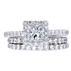 1.06 ct. Princess Cut Bridal Set Ring, G, VS1 #3