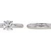 1.01 ct. Round Cut Bridal Set Ring, E, IF #3