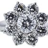1.16 ct. Round Cut Central Cluster Ring, D, SI2 #4