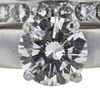 2.1 ct. Round Cut Bridal Set Ring, J, SI2 #4