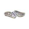 0.6 ct. Round Cut Bridal Set Ring, G, VS2 #3