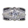 0.90 ct. Marquise Cut Bridal Set Ring, F, VVS2 #3