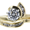 0.96 ct. Round Cut Bridal Set Ring #4