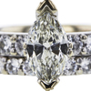 1.40 ct. Marquise Cut Bridal Set Ring, K, SI2 #4