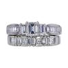 0.64 ct. Emerald Cut Bridal Set Ring, G, VVS2 #3