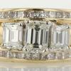 0.76 ct. Emerald Cut Bridal Set Ring #1