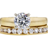 1.06 ct. Round Cut Bridal Set Ring, I, SI1 #1