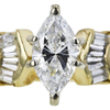 1.25 ct. Marquise Cut Bridal Set Ring, G, SI2 #4