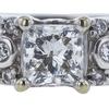 0.71 ct. Princess Cut Bridal Set Ring, H, SI1 #4