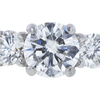 0.90 ct. Round Cut 3 Stone Ring, G, SI2 #4