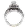 0.69 ct. Round Modified Brilliant Cut Bridal Set Ring, F, SI2 #4