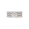1.21 ct. Round Cut Bridal Set Ring, M-Z, VS2 #3