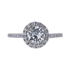 1.00 ct. Round Cut Halo Ring, J, SI2 #3
