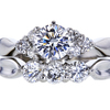 0.76 ct. Round Cut Bridal Set Ring, F, SI1 #3
