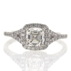 1.06 ct. Asscher Cut Halo Ring #2
