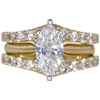 1.0 ct. Marquise Cut Bridal Set Ring, G, I1 #3