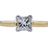 0.75 ct. Princess Cut Solitaire Ring, F, IF #2