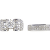 1.0 ct. Round Cut Bridal Set Ring, I-J, I2 #2