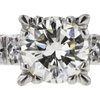 0.91 ct. Round Cut Bridal Set Ring, K, VS1 #4