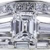 1.19 ct. Emerald Cut Bridal Set Ring, F, VS1 #4