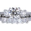 1.20 ct. Round Cut Bridal Set Ring, H, VS2 #3